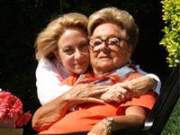 Hillary Abrams and her mother, at home in Marietta, Georgia.